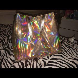 Gold Holographic Shoulder Bag.
